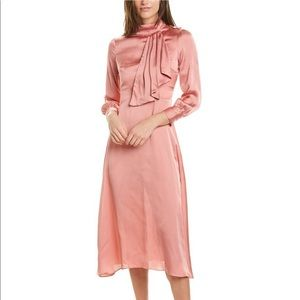 Alexia Admore Dusty Rose Pink midi dress